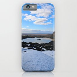 The Lake of an Old Glacier iPhone Case
