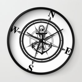 Nautica BW Wall Clock