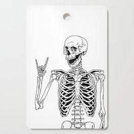 Rock and Roll Skeleton Cutting Board