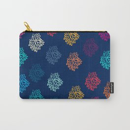 Watercolour Floral Snowflakes Pattern Carry-All Pouch