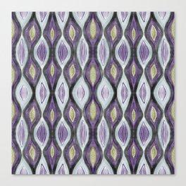 Organic pattern green purple Canvas Print