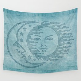 Sun Moon And Stars Batik Wall Tapestry