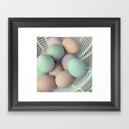 Fresh Basket of Hen Eggs, No. 1 Framed Art Print