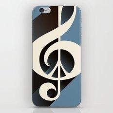 Steal Blue Retro Music & Peace iPhone & iPod Skin