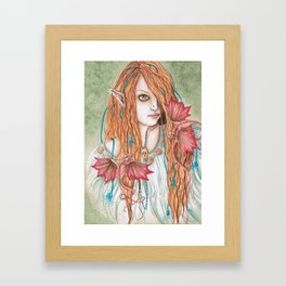 Crimson Wings - Enchanted Visions Project Framed Art Print