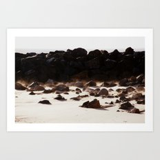 By the Rock Art Print