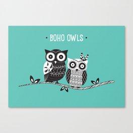 Boho Owls Canvas Print
