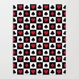 Card Pattern - Red Queen Poster