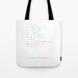 Wanderlust Cities (3) Tote Bag