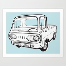 econoline pick-up Art Print