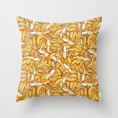 Yellow banana dream. Throw Pillow