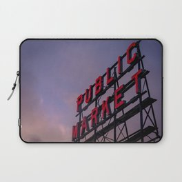 Pike Place Neon Sunrise Laptop Sleeve