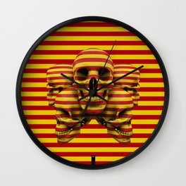Skulls pop Wall Clock