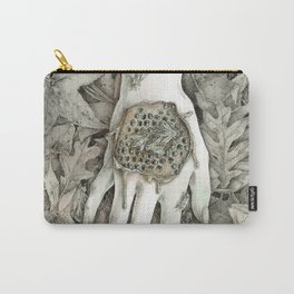 Hand and Honeycomb Carry-All Pouch