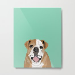 Roscoe - English bulldog dog dogs pet pets gifts for dog person dog people  Metal Print
