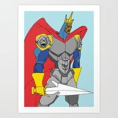 The Black Knight. Art Print