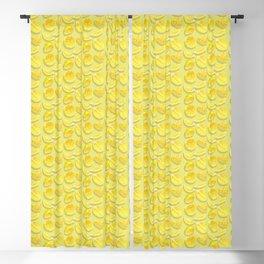 Lemon Bright Pattern Blackout Curtain
