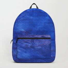 Cerulean blue abstract watercolor Backpack
