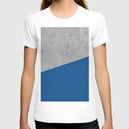 Concrete and Lapis Blue Color T-shirt