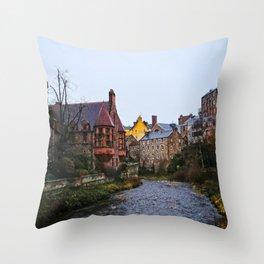 Dean's Village, Edinburg Throw Pillow
