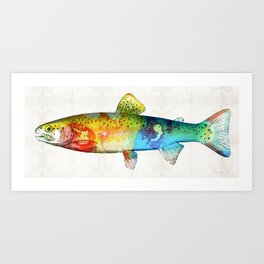 Rainbow Trout Art by Sharon Cummings Art Print