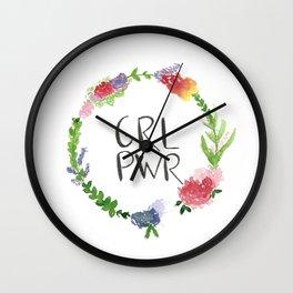 GRL PWR flowers Wall Clock
