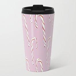Candy Canes (pink) Travel Mug