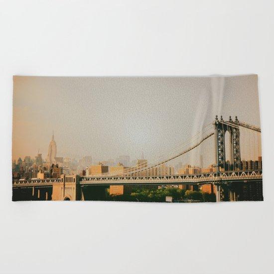 New York City Sunset Beach Towel