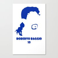 juventus Canvas Prints featuring Baggio Juventus by Sport_Designs