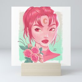 Pink moon Mini Art Print