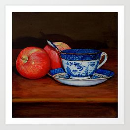 Teacup with Two Apples Art Print