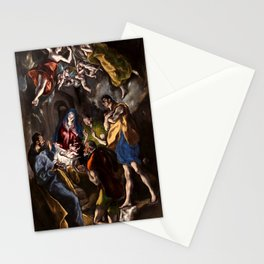 """El Greco (Domenikos Theotokopoulos) """"The Adoration of the Shepherds (1612-1614)"""" Stationery Cards"""
