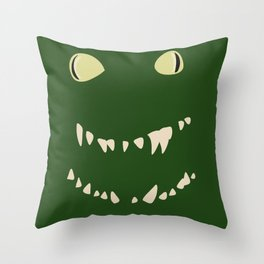 Derpy Croc Throw Pillow