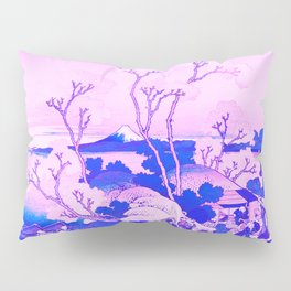 Mount Fuji Cherry Blossoms Remix in Pink Pillow Sham