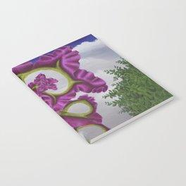 Purple Poppy Flower Notebook