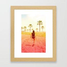 Faced Fears Framed Art Print