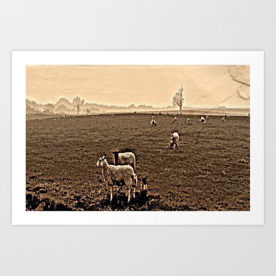 Redeemed with a Lamb Art Print