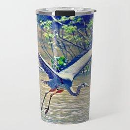 Flying (Blue Heron) Travel Mug