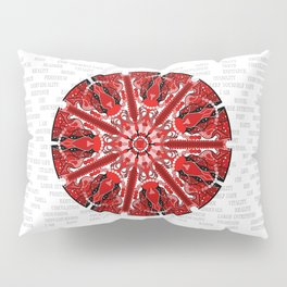 Root Chakra Mandala with Text Pillow Sham