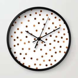 Copper Dots Pattern Wall Clock