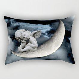 Angel Cherub Child Moon Blue Child's Room Art A542 Rectangular Pillow