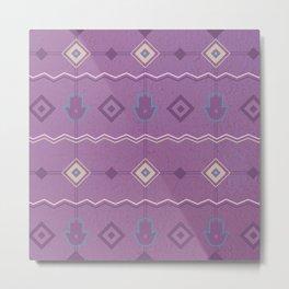 Moroccan modern pattern Metal Print