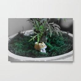 Shiba Inu Jungle 2 Metal Print