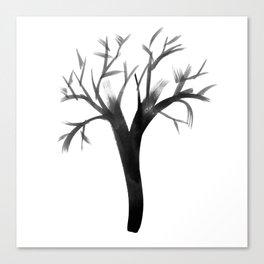 Brush Tree Canvas Print