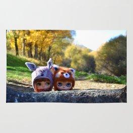 Honey & Robin - Autumn nature Rug