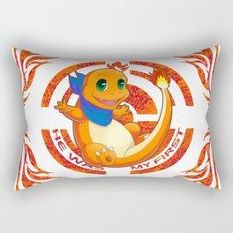 He was my first. Fire Generation I Rectangular Pillow