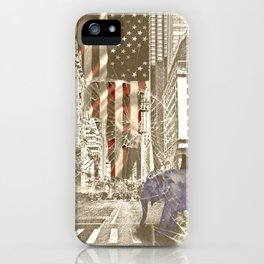 Elephant in New York Picture iPhone Case
