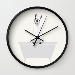 Vintage Llama in Bathtub Wall Clock