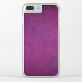 Abstract Soft Watercolor Gradient Ombre Blend 11 Purple Fuchsia Clear iPhone Case
