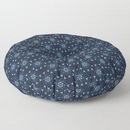 Winter Snow Texture Drawn Starry Snowflake Floor Pillow